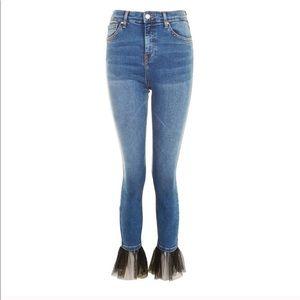 Topshop Moto Jamie Skinny Jeans with Ruffles